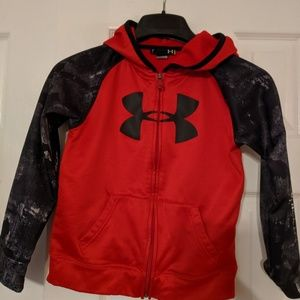 Size 7 boys  under armour zippered hoodie